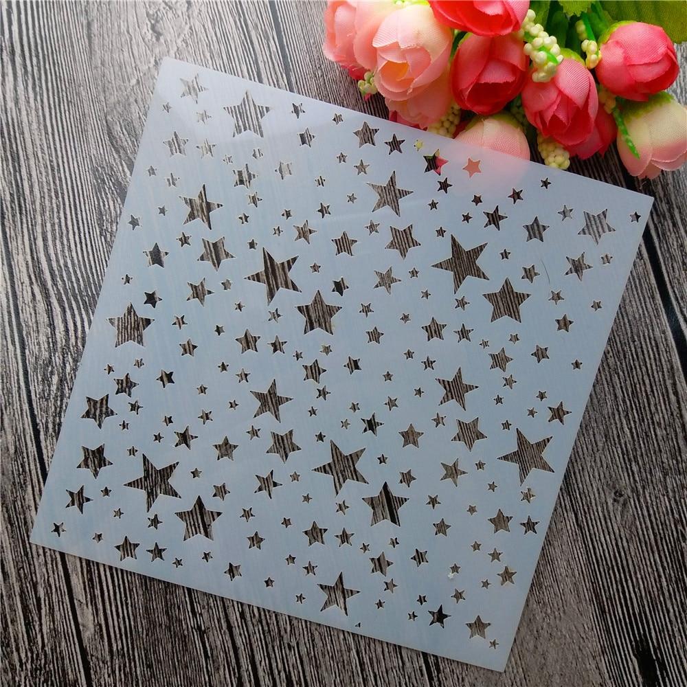 HOTP Paper Piercing Patterns Circle Stars Flowers Stars Scrapbooking Stencil