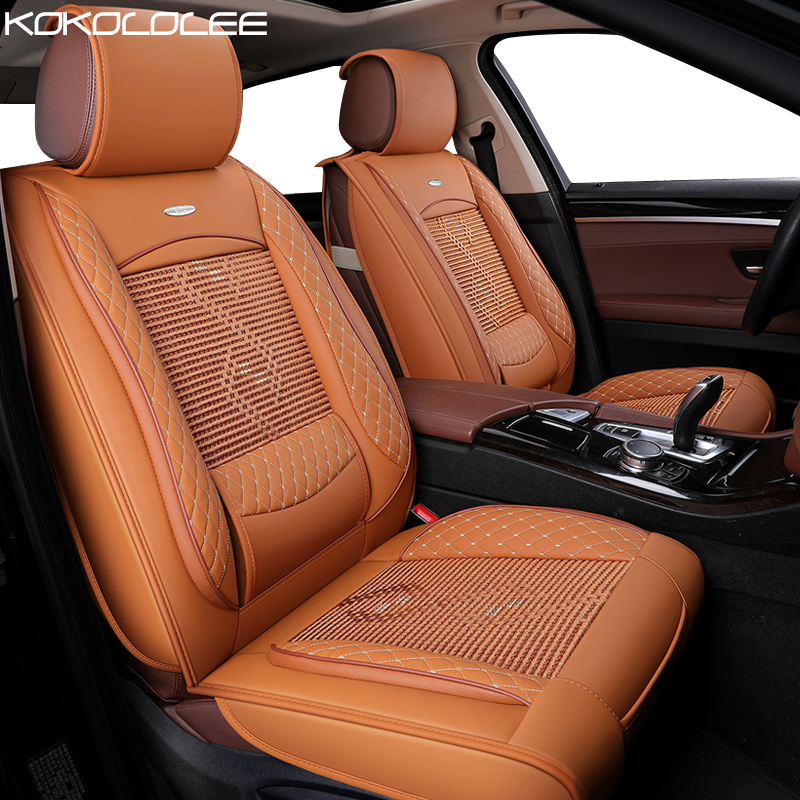 [Kokololee] Автокресло Чехлы для Mitsubishi Pajero Sport Hyundai Elantra Kia Ceed 2017 Passat B3 Lada 2114 для Land Rover x9 авто