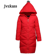 Jvzkass 2018 fashion winter women thick coat special clearance cotton long skirt version of the down cotton padded jacket Z98 the counter brand quality original design in the winter 2015 easing the big yards of cotton linen women cotton padded clothes