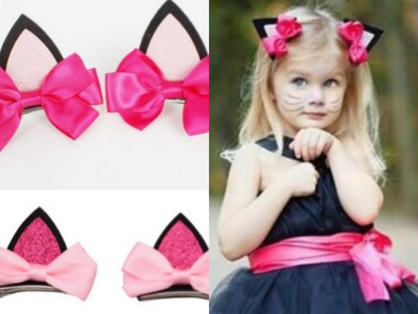 2 pieces =1 pair children baby girls hair accessories clip Kids hairpins barrettes Bow   headwear   flower cat ears hairpin
