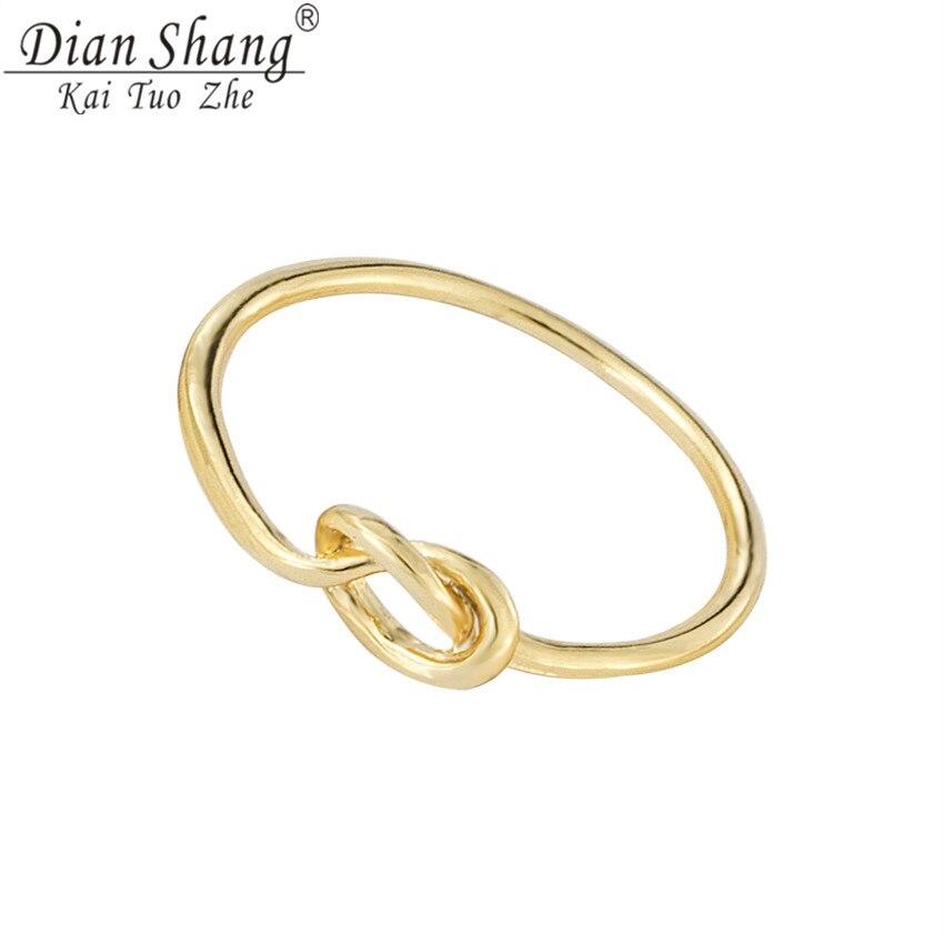 F Fdianshangkaituozhe Knot Wedding Rings For Women Men Copper Cock