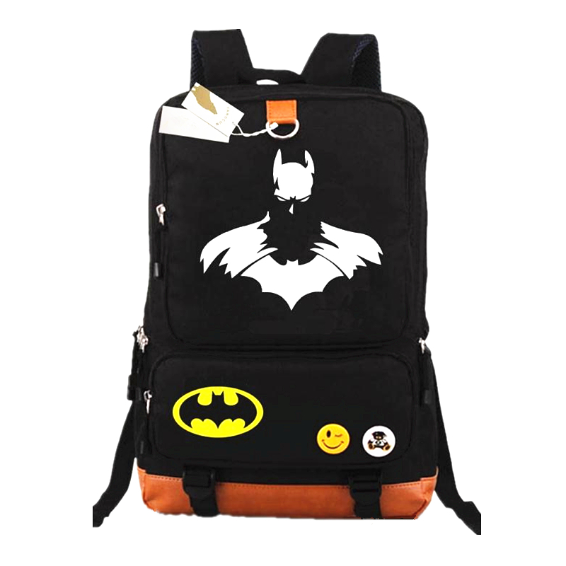 Super Hero School Bag Batman Casual Backpack Laptop Bags For Boys Girls School Backpacks Kids Best Gift School Bag Mochilas