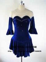 Обувь для девочек Фигурное катание Платья для женщин Мода Новый конкурс бренд лед фигурное катание платье детей dr3526