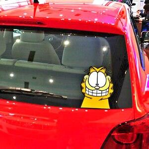 Aliauto мультфильм Забавный Гарфилд стикер автомобиля наклейка Аксессуары для Ford Mondeo MK4 Focus 2 3 C-max S-max Ranger Kuga транзит