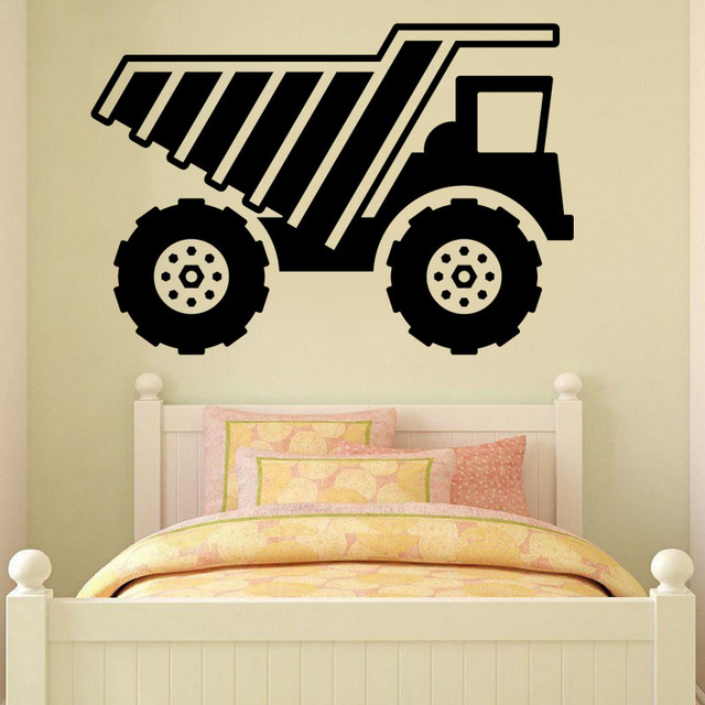 Hot Sale DIY Removable Wall Sticker PVC Cartoon Truck Wall Decal ...
