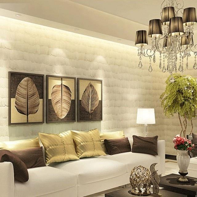 Beibehang Tapete Minimalistischen Mode Dekoration Sowieso Federn Tapete TV  Kulisse Schlafzimmertapete Papel De Parede