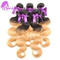 Новый 1B/27 # Перуанский Девы Волос Объемной Волны 4 Шт. Два Тона Ломбер волосы Перуанский Человеческих Волос Weave 8-28 дюймов Перуанский Ombre волос