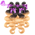 New 1B/27# Peruvian Virgin Hair Body Wave 4Pcs Two Tone Ombre Hair Peruvian Human Hair Weave 8 - 28 inch Peruvian Ombre Hair