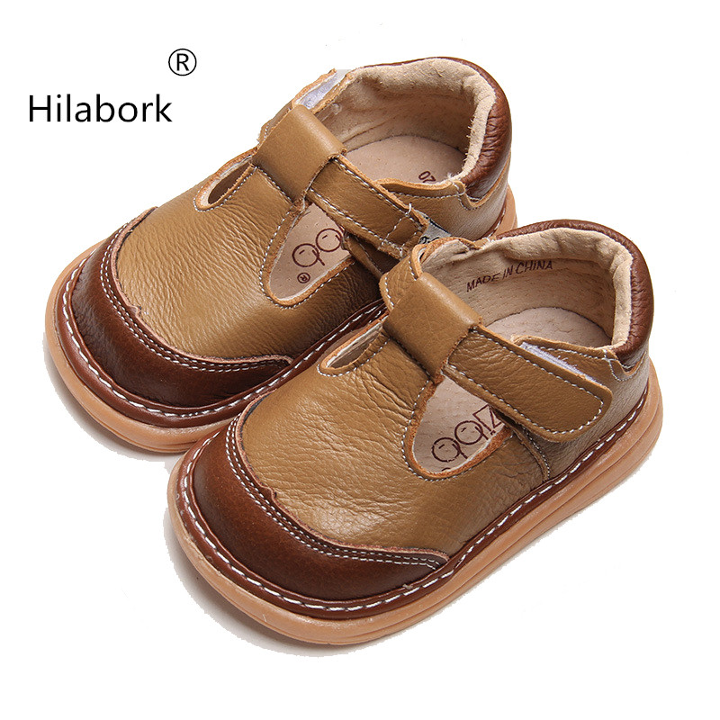 Hilabork Leather baby learn new fall and winter walking ...