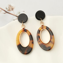Za Resin Water Drop Earrings Women Luxury Dangle Geometric Maxi Statement Earrings Acetic Acid Beads Pendant Brinco Jewelry(China)