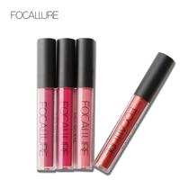 Focallure Brand Waterproof Matte Lipsticks Pro Makeup Cosmetic Long-lasting Lip Gloss Metal Shimmer Lip Cream Liquid Tint