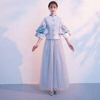 Vintage Bridal Bridesmaid Cheongsam Modern Traditional Chinese style Wedding Dress Oriental Womens Qipao Vestidos Size S XXL