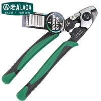 LAOA 7 Inch Wire Rope Cut Scissors Wire Cutters Multifunction American Type CR MO Aviqtion Linesman Snips LA116507