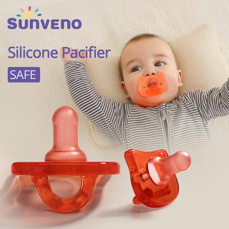 Sunveno Silicone Baby Pacifier Infant Bionic Nipple Soother Toddler Kids Pacifier Food Grade Baby Feeding