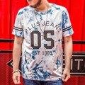 Plus Size camisa Dos Homens T O Pescoço de Impressão de Algodão Casuais 6XL 7XL 2016 Novas chegadas de Verão Dos Homens T-shirt de Manga Curta Tamanho Grande t16042