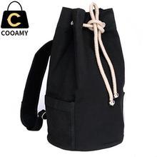 Men's Backpack New Large Capacity Men Drawstring Backpack Canvas Bucket Bag Unisex Fashionable Concise School Bag Male Schoolbag