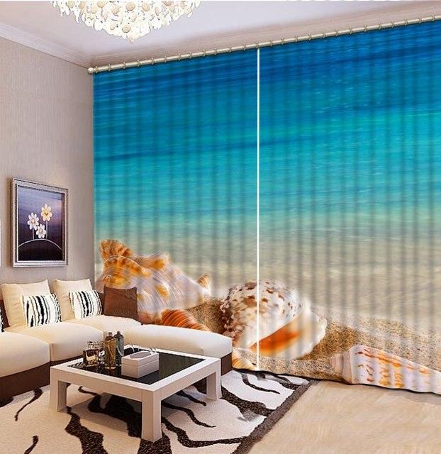 3d personalizzato tende soggiorno acqua di Mare paesaggio spiaggia ...