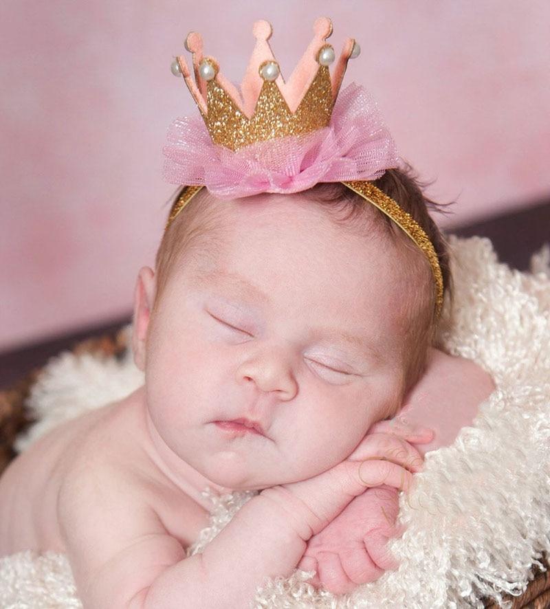 girl crown headband tiara bebe gold princess glitter crown hairband hair clip cute kids headwrap hair