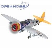 Graupner P-47 Thunderbolt כסף Warbird RC בקנה מידה גדולה מטוסי מטוס מטוס עם GR-12 3XG מקלט ESC מנוע סרוו ג 'יירו