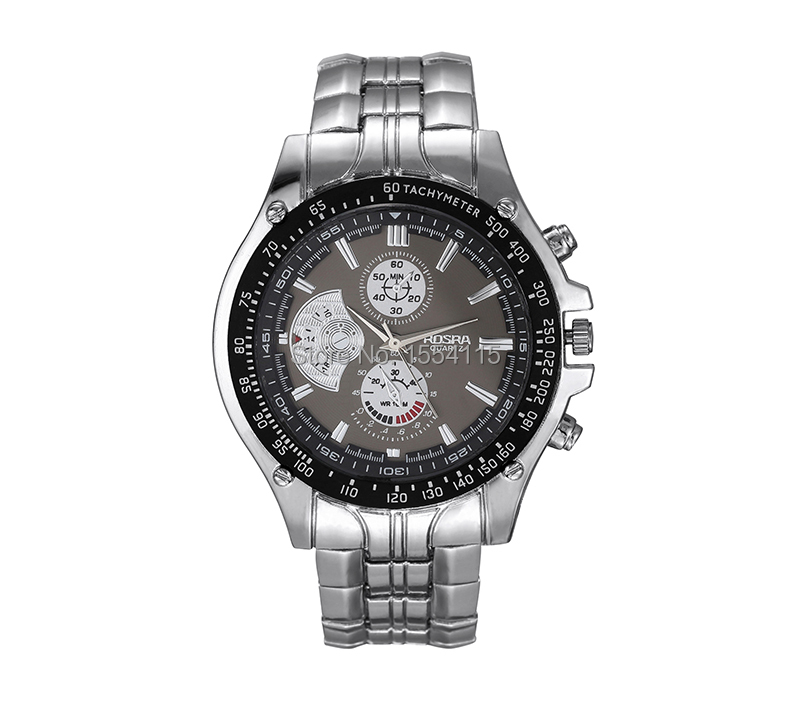 Top Quality Hot Sale Stainless Steel Mens Business Watches Round Dial Watch Alloy Band Gift Watch Fshion Watches Wholesale ...