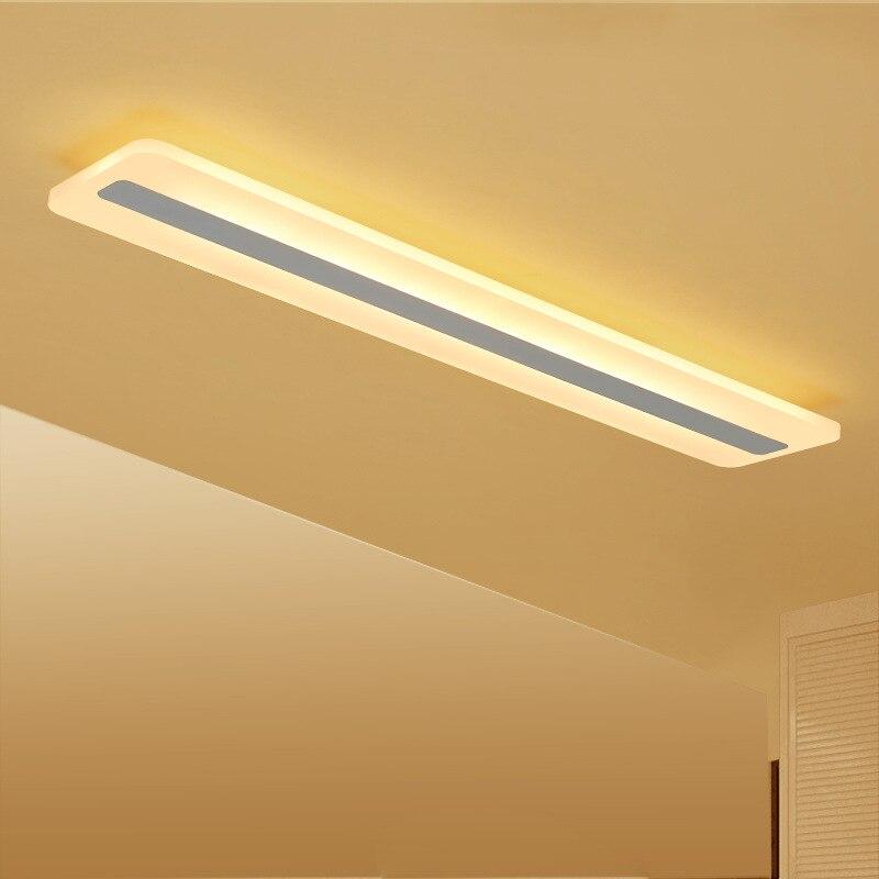 Long Strip Acrylic LED Ceiling Light Modern Simple Lamp Office Bedroom Study Balcony Aisle Corridor Rectangular Lighting Fixture