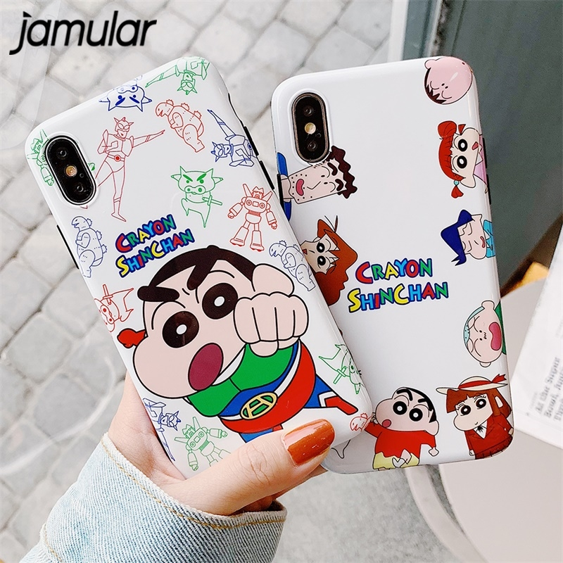 JAMULAR Cartoon Crayon Shin Chan Phone Case For IPhone 7 8