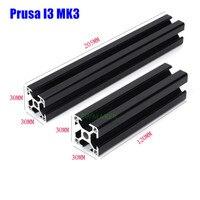 블랙 prusa i3 mk3 알루미늄 압출 프로파일 키트 prusa i3 mk3 3d 프린터 용 3030 30*30 알루미늄 프로파일