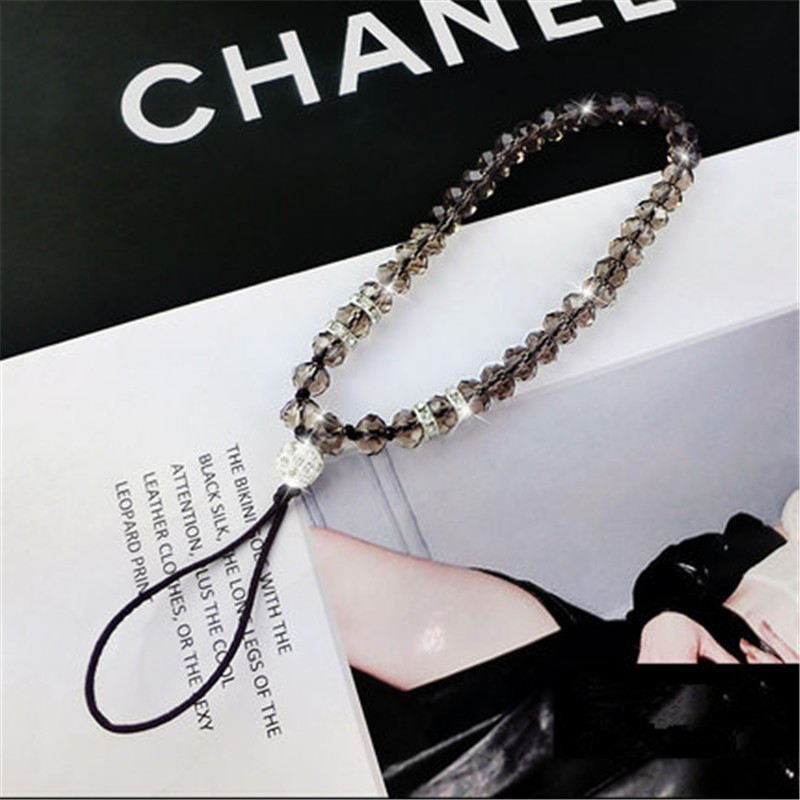 Universal 44Cm Phone Strap Sling Lanyard Crystal Pearl Hanging Portable Mobile Phone Case Rope Card Pack Rope for iPhone,1