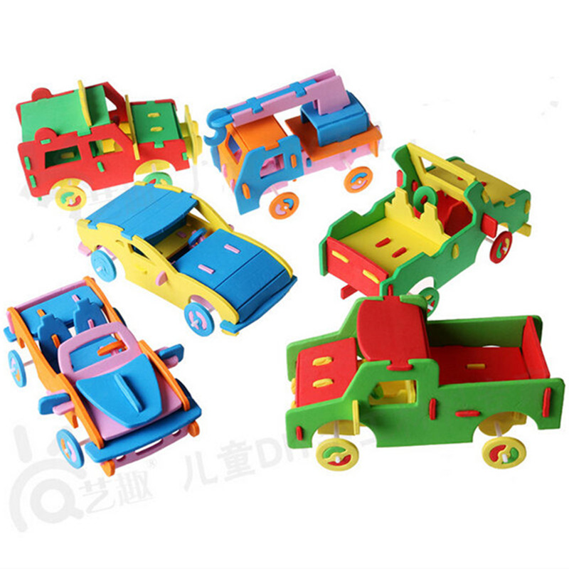 Happyxuan kids diy craft kits handicrafts eva car truck for Alex toys craft color a house children s kit