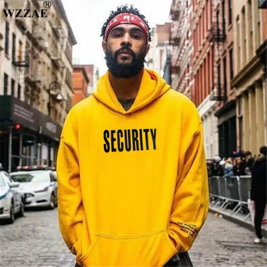 Vfiles Security Print Hoodie Justin Bieber Fog High Street Sweatshirt Bibb Purpose Tour Yellow Hoodie Lovers Couple Bts Hoodie