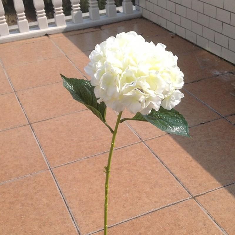Evropský pastýřský styl Bílé umělé hedvábné květinové tkaniny hortenzie kytice pro svatební party dekorace Doprava zdarma