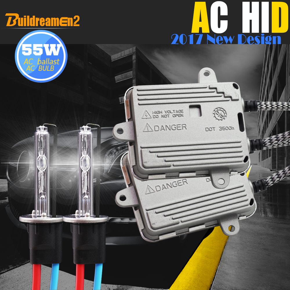 цена на Buildreamen2 55W H1 H3 H7 H8 H9 H11 881 880 9005 HB3 9006 Car Light HID Xenon Kit 3000K AC Ballast Lamp Headlight DRL Fog Light