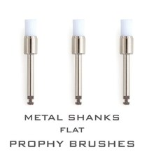 40 Pieces Oral  Supplies Disposable Polishing Brush Metal Shank Flat Propyh Brushes