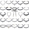 24 Pcs Lot Women S Chockers Trendy Bijoux Femme Lace Chokers Necklaces For Women Collares Mujer