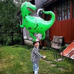 Большой динозавр воздушные шары из алюминиевой фольги игрушки вечерние шляпы тираннозавр зеленые воздушные шары игрушки для отдыха день