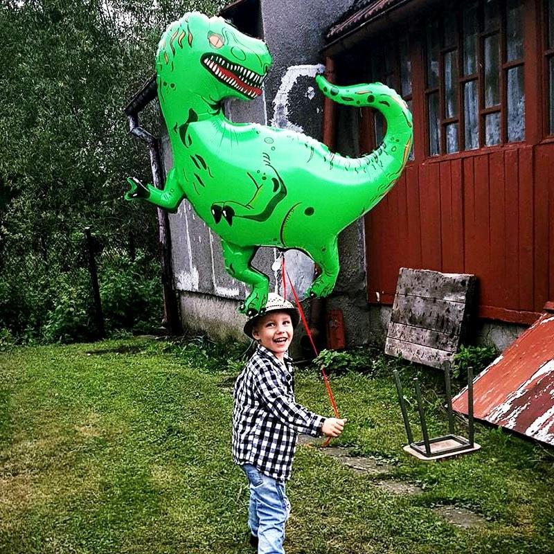 1Pcs Giant Dinosaur Foil Balloon Animal Balloons Birthday Party Decorations Kids 1 Year Birthday Girl Love Party Decora Globos