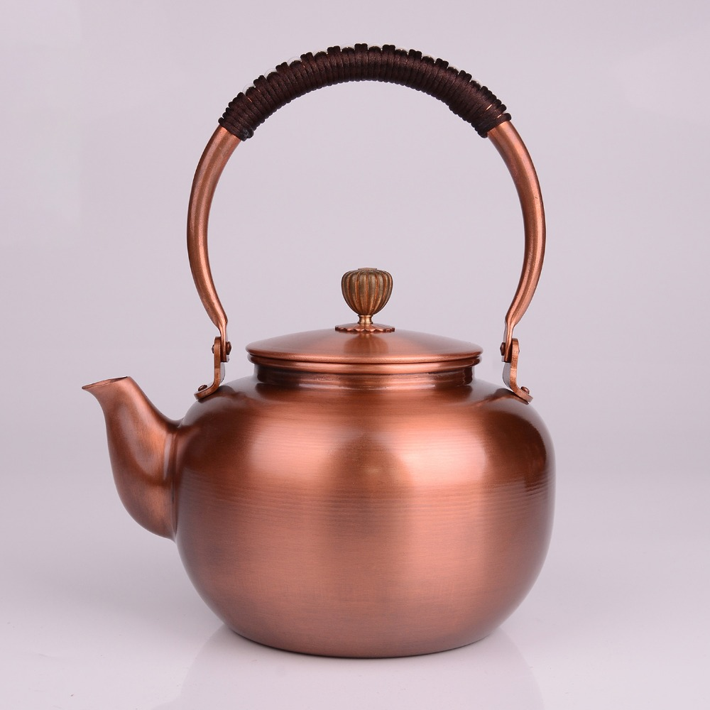 1.2L bule de cobre handmade vidro samovar chaleira esmaltada esmaltado a partir de argila de cerâmica pratos de metal presente puer chá verde Japonês
