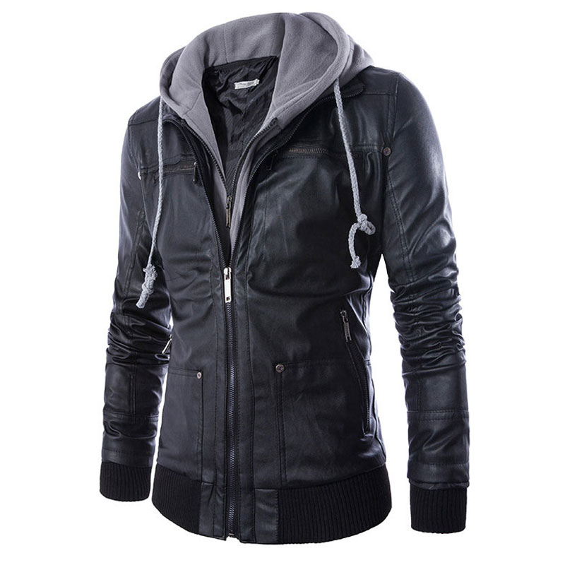 Осень для мужчин локомотив кожаные куртки s Толстовка PU пальто Jaqueta De Couro Masculina модные дизайнерские тонкий кожаная верхняя одежда 4XL