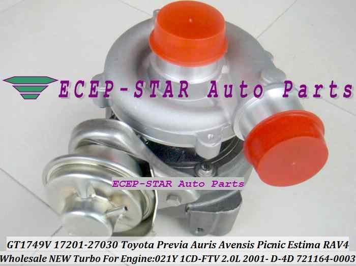 GT1749V 721164 0003 17201 27030 Turbo турбонагнетатель для тoyota RAV4 Previa Auris Avensis Пикник Estima 021Y 1CD FTV