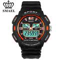 SMAEL Mens Watches Top Brand Luxury LED Digital Dual Display Watch Waterproof Date Display Relogio Masculino Erkek Saat Men Gift
