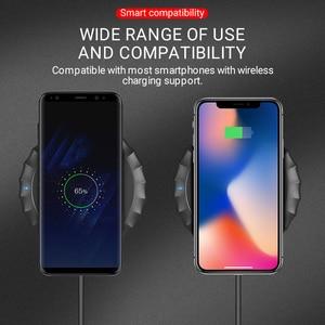 Image 4 - Hoco drahtlose ladegerät für apple iphone samsung xiaomi handys lade pad tragbare desktop adapter drahtlose matte lade basis