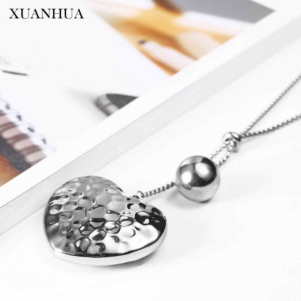 XUANHUA Stainless Steel Jewelry Woman Vogue 2019 Pendant Heart Necklace Jewelry Accessories Charm Bohemian Mass Effect