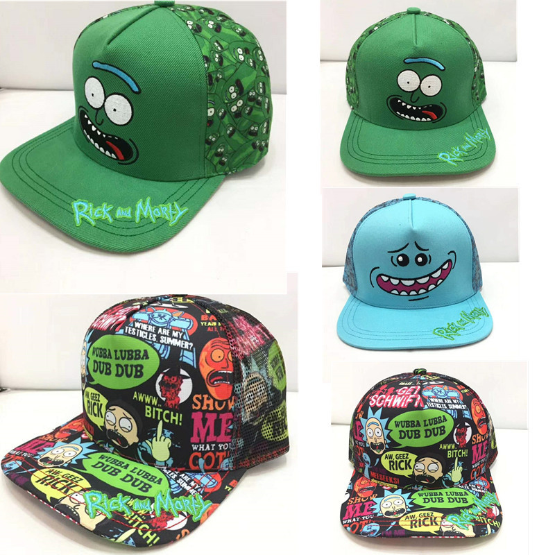 2018 Rick And Morty Cartoon Character Colorful New Adult Hip Hop Fashion Summer Hat Rick And Morty Baseball Cap Easy To Repair