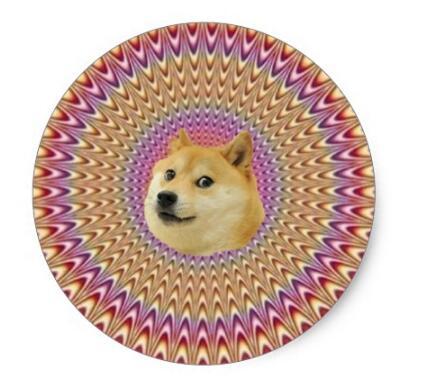 1.5inch Doge Wow All Hail Hypnodoge Classic Round Sticker