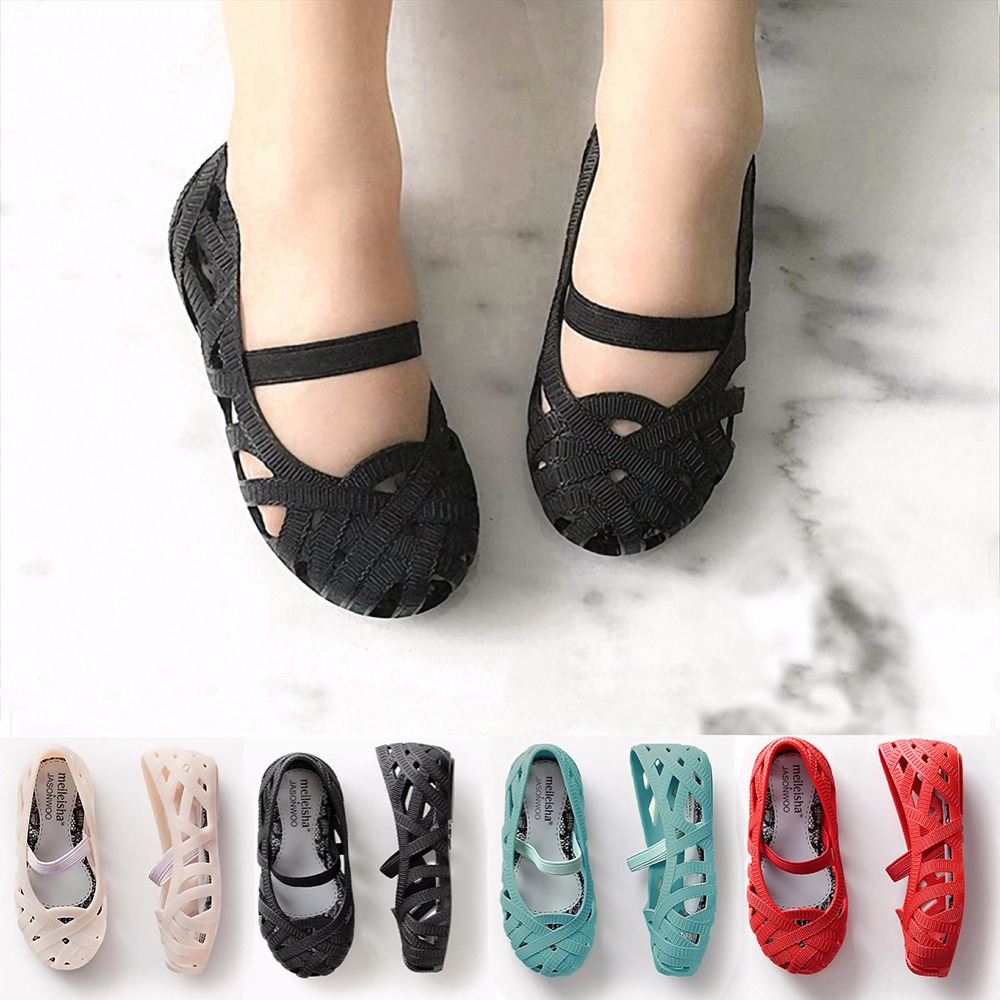 Mini Melissa 2018 Girl Sandals Hollow Girls Jelly Shoes Baby Heels Sepatu Anak Red Rose Plain Children In From Mother Kids On