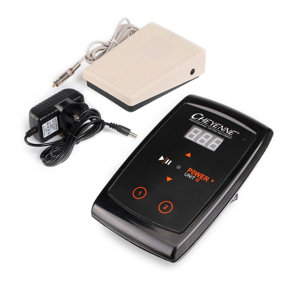 1 pièces LCD Hawk tatouage alimentation + pédale + Clip cordon Kit pour maquillage Permanent tatouage Machine Kits livraison gratuite