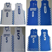Dwayne Malik Monk 5 De Aaron Fox 0 Kentucky Wildcats College Basketball  Jersey de0414e29