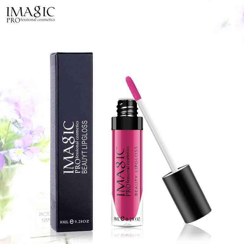 IMAGIC מט ליפ גלוס עמיד למים לאורך זמן גלוס יופי איפור גלוס אופנה שפתיים 1pcs