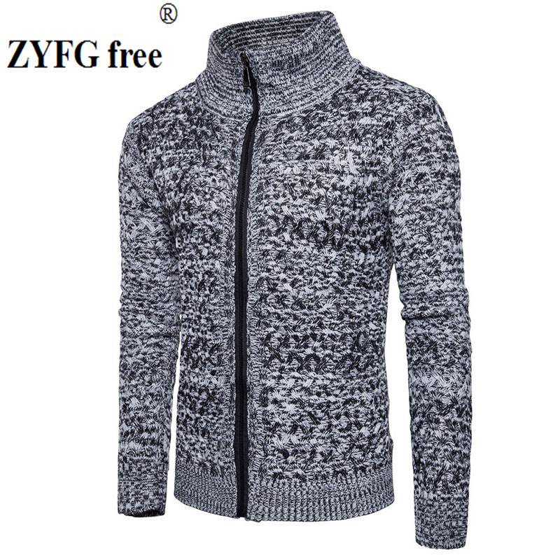 New 2018 style autumn winter men casual sweater men 39 s keep warm fashion solid color zipper Lapel Sweater coat clothes EU size in Cardigans from Men 39 s Clothing