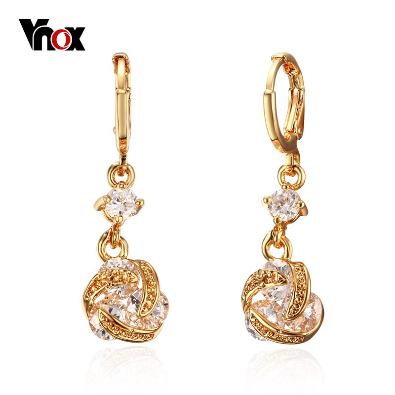 New Luxury Earring For Woman Indian Gold Earring 2015in Drop Earrings
